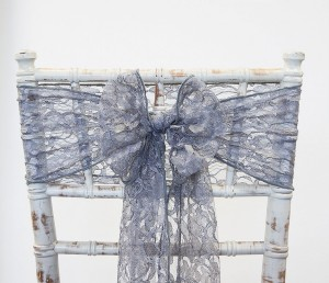Grey Lace Chair Sash