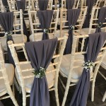Grey Chiffon Chair Drapes