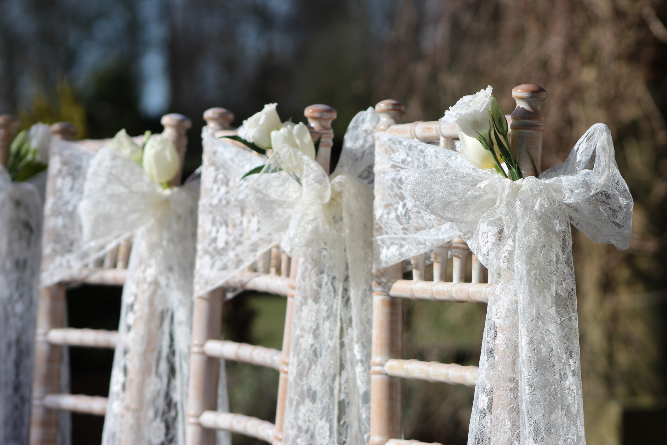Kirkley Hall Wedding in Northumberland with Lace Chair