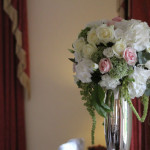 styled-and-seated-horton-grange-wedding-decorations-hydrangea-silver-vase-table-centre