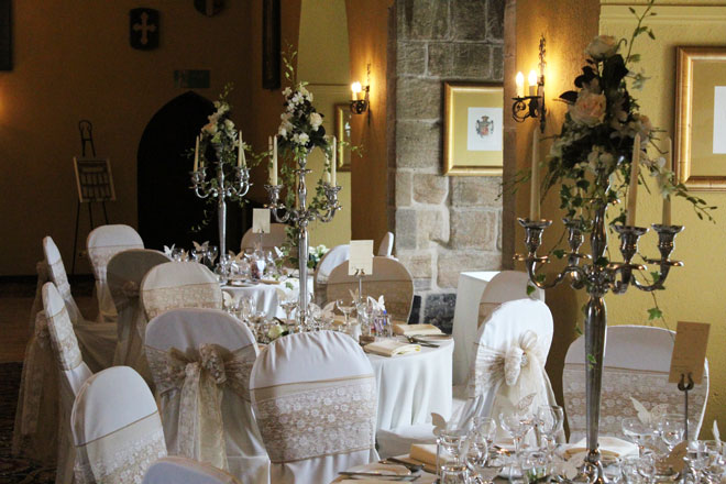 Langley Castle Wedding Decorations « Styled & Seated