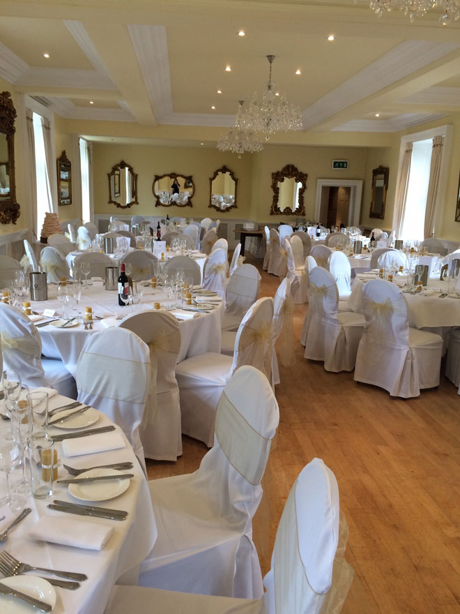 Chair Covers For Eshott Hall Weddings In