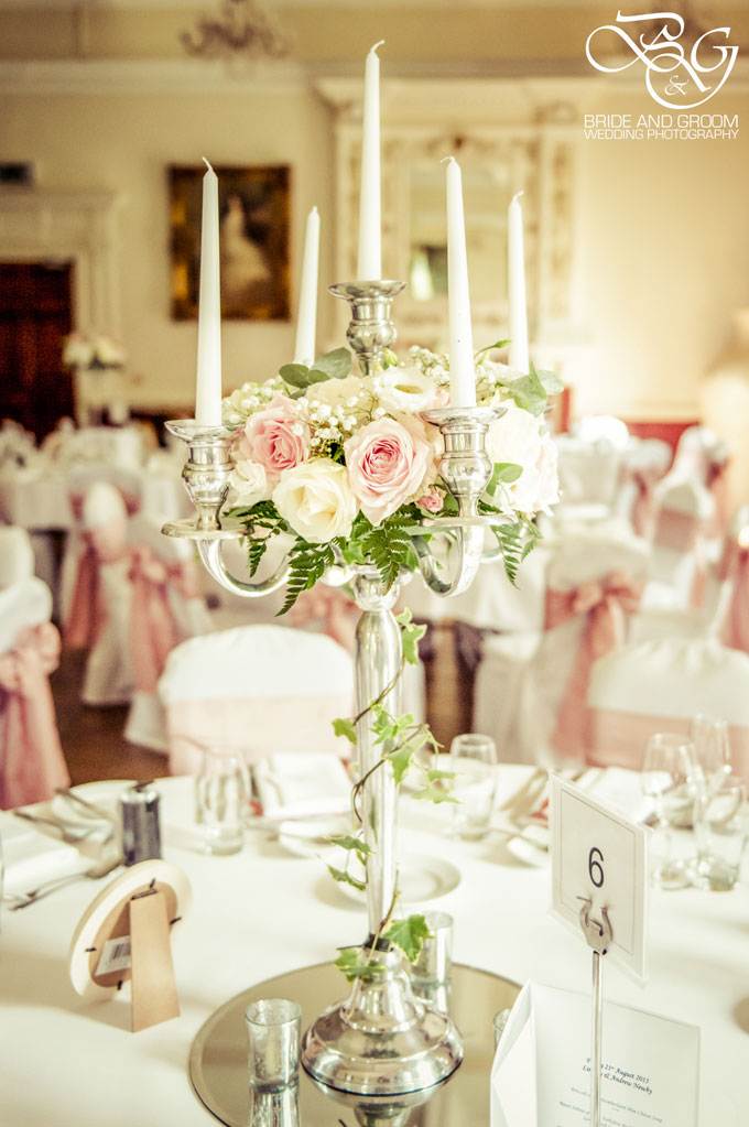 Fresh Flowers And Wedding Table Centres In The North Eaststyled Seated
